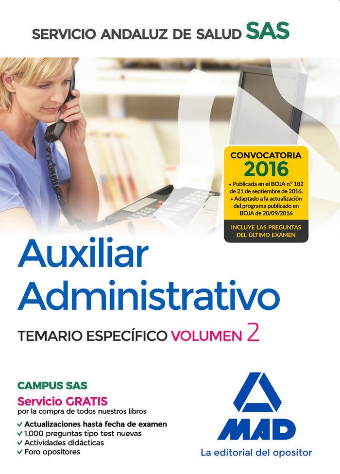 Auxiliar administrativo servicio andaluz salud vol 2