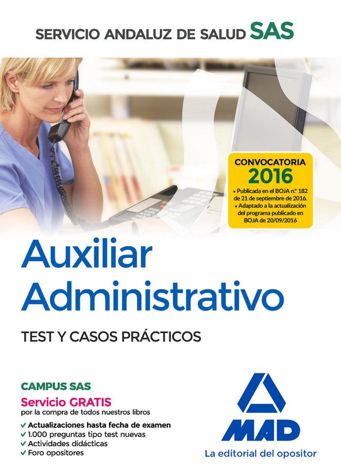 Auxiliar administrativo test y casos practicos 2016