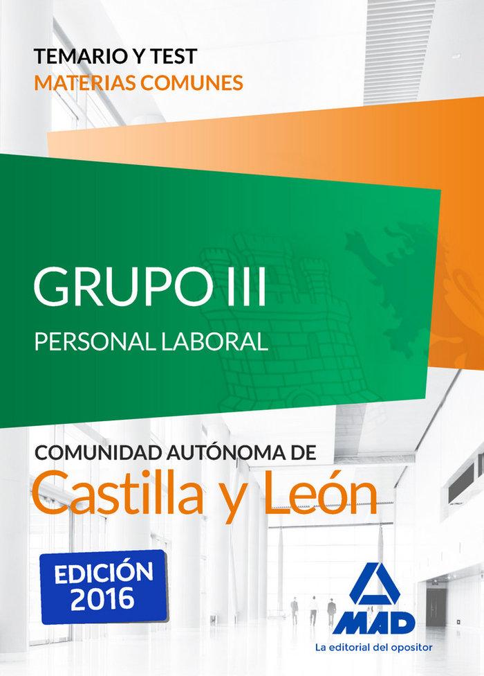 Grupo iii personal laboral de la junta de castilla y leon. t