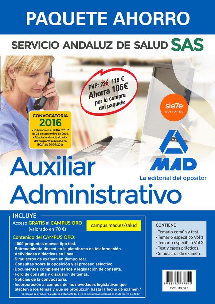 Pack auxiliar administrativo servicio andaluz de salud 2016