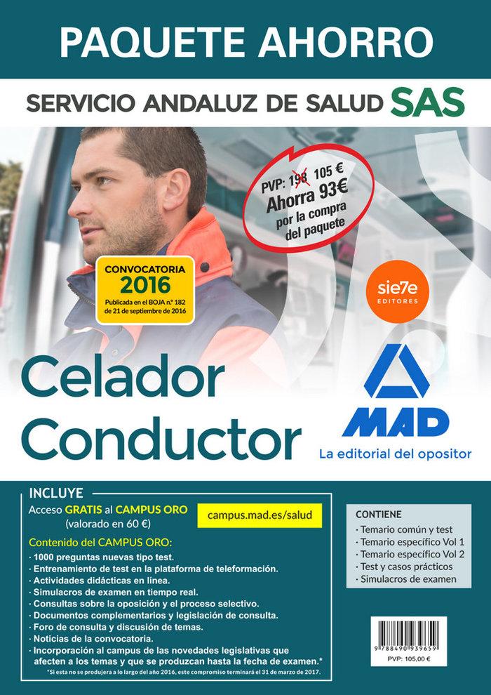Paquete ahorro celador conductor servicio andaluz salu 2016