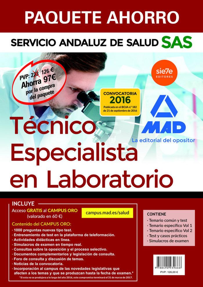 Paquete ahorro tecnico especialista en laboratorio del servi