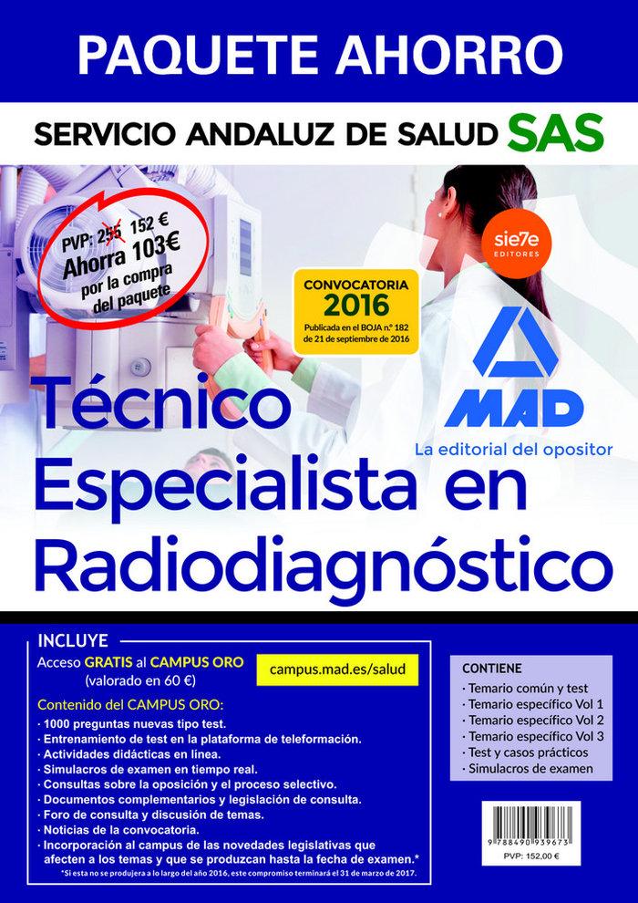 Paquete ahorro tecnico especialista en radiagnostico