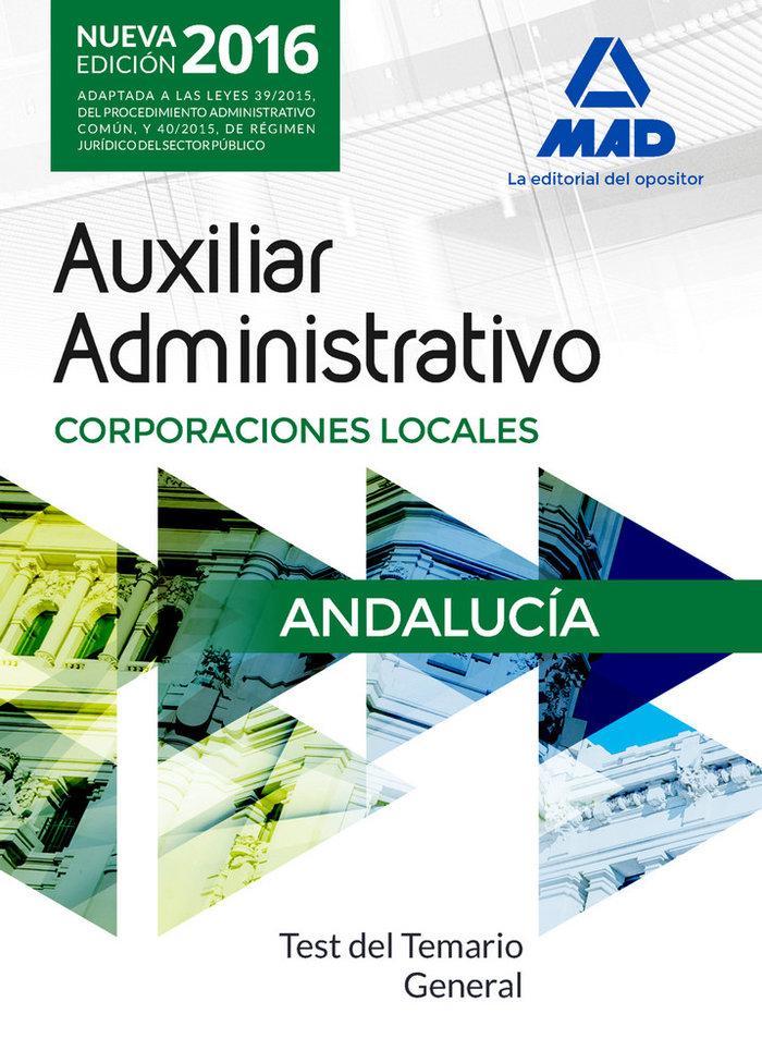 Auxiliar admon corporaciones locales andalucia 2016 test te