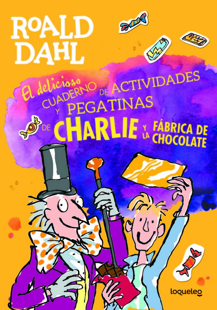 Charlie y la fabrica chocolate libro pegatinas