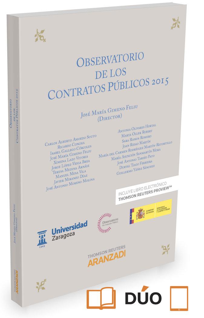 Observatorio de los contratos publicos 2015 (papel + e-book)