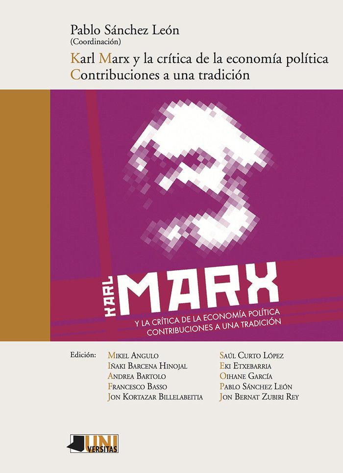 Karl marx y la critica de la economia politica contribucion