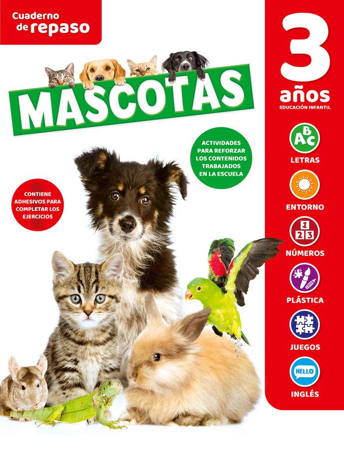 Cuaderno tematico luminiscente 3 años mascotas
