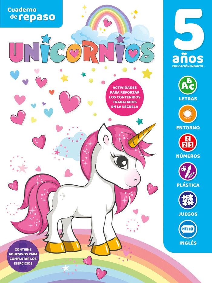 Cuaderno tematico luminiscente 5 años unicornios
