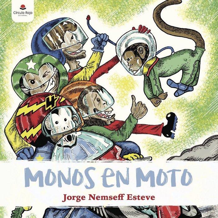 Monos en moto