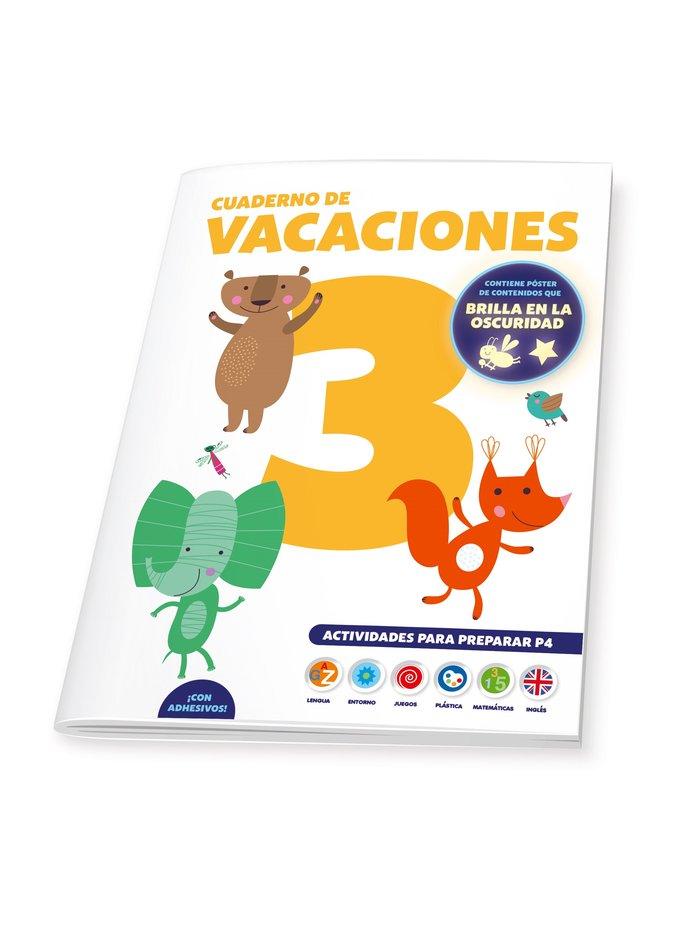 Cuaderno de vacaciones 3 años poster luminiscente