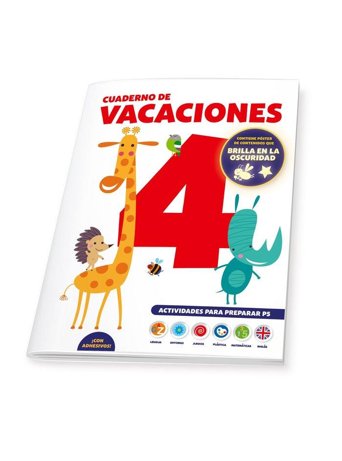 Cuaderno de vacaciones 4 años poster luminiscente