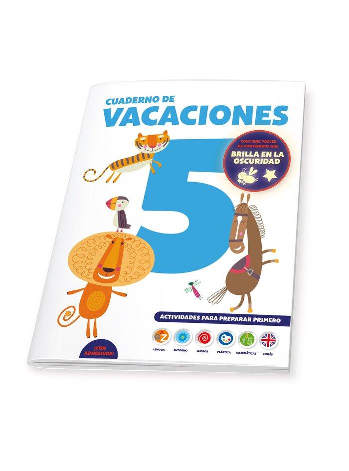Cuaderno de vacaciones 5 años poster luminiscente