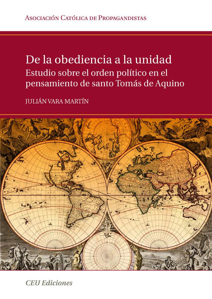 De la obediencia a la unidad. estudio sobre el orden politic
