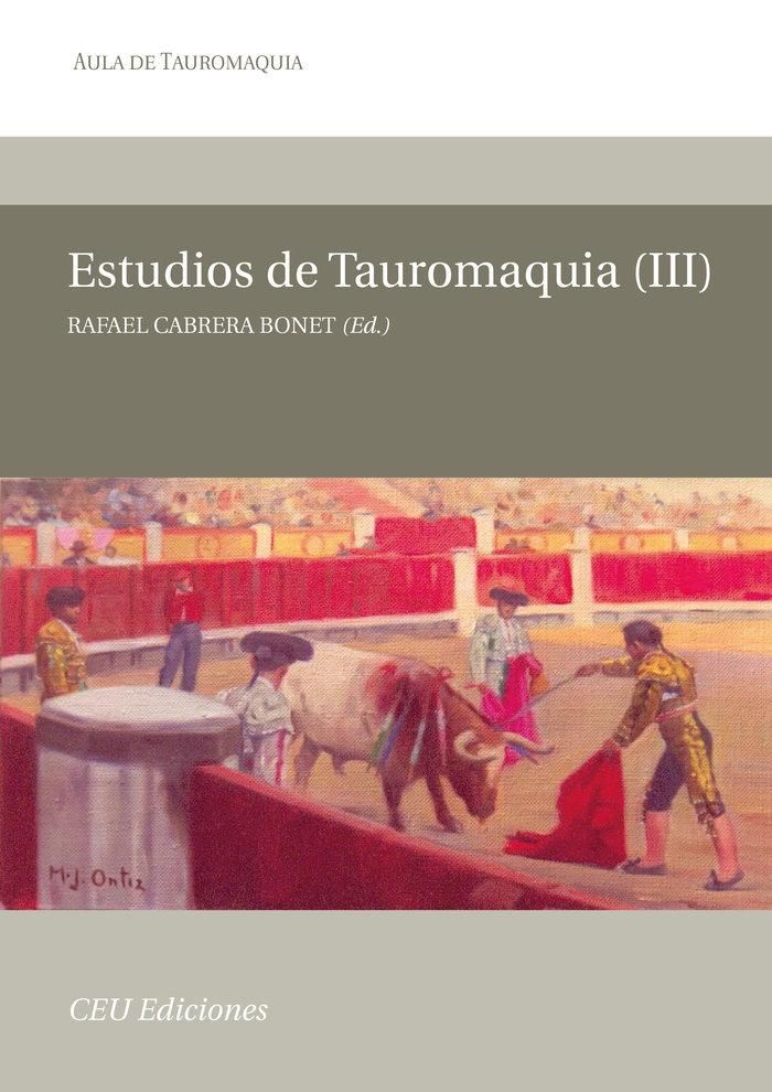 Estudios de tauromaquia iii
