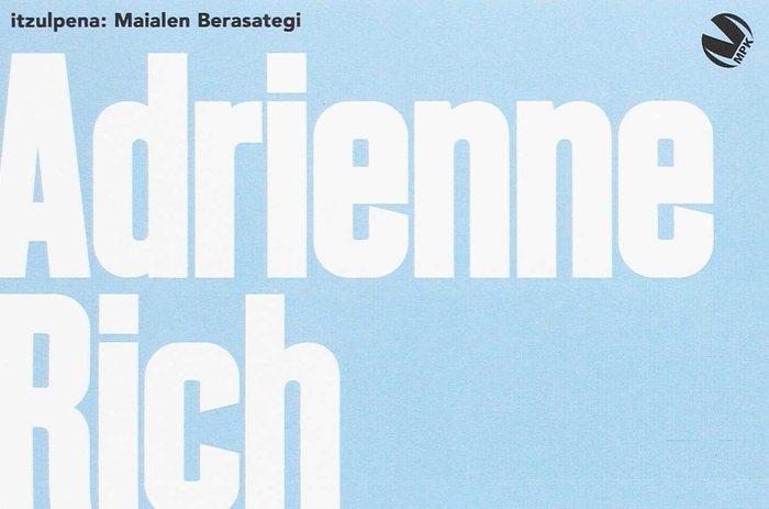 Adrienne rich antologia