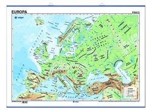 Mapa poster europa fis/pol (varillas y tubo) 50x70