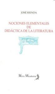 Nociones elementales de didactica de la literatura