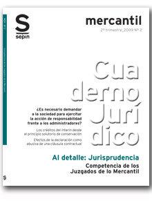 Competencia de los juzgados de lo mercantil