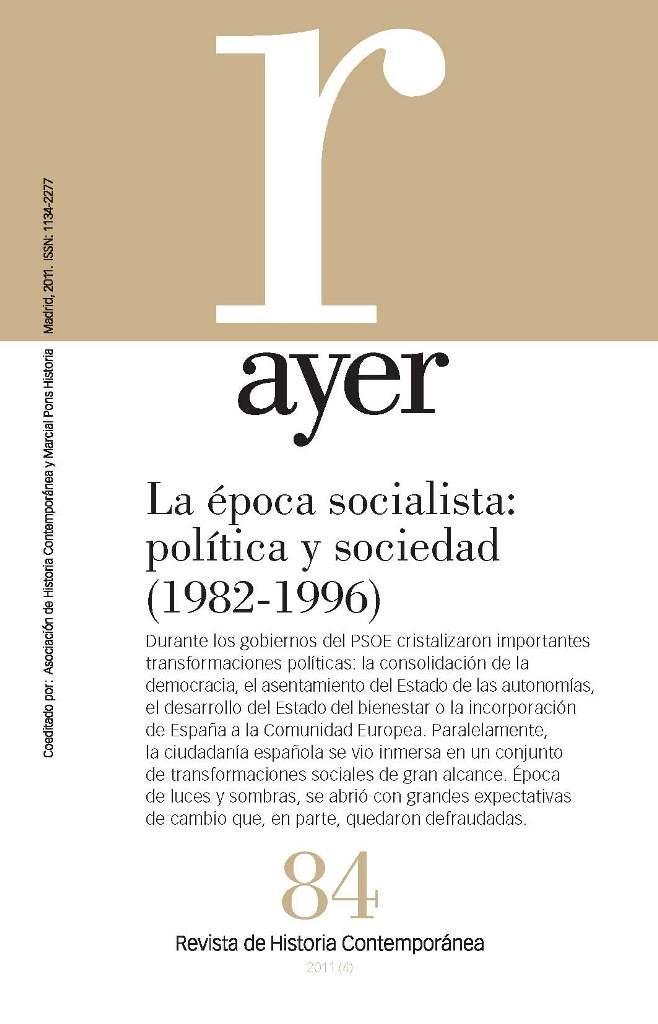 Epoca socialista: politica y sociedad (1982-1996),la