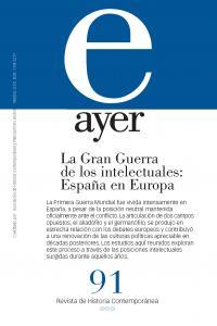 Gran guerra de los intelectuales españa en europa,la