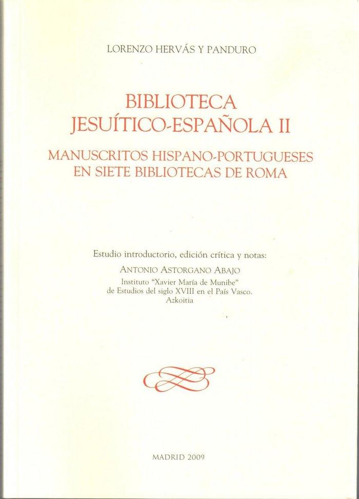 (ii) biblioteca jesuitico-espaÑola (vol. ii): manuscritos hi