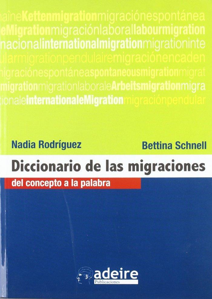 Diccionario de las migraciones: del concepto a la palabra