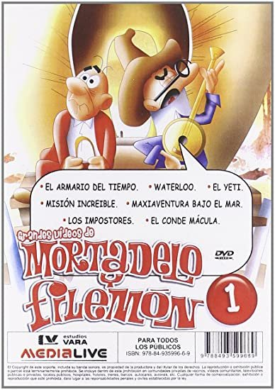 Grandes videos de mortadelo y filemon (2 dvd's) (animacion)