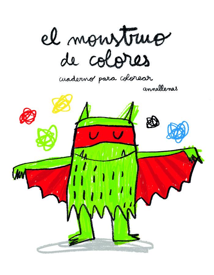 Monstruo de colores cuaderno de colorear