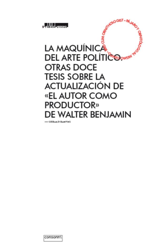 Maquinica del arte politico,la