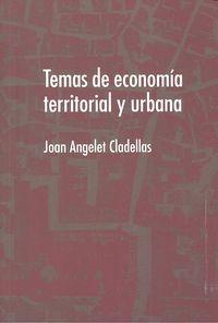 Temas de economia territorial y urbana