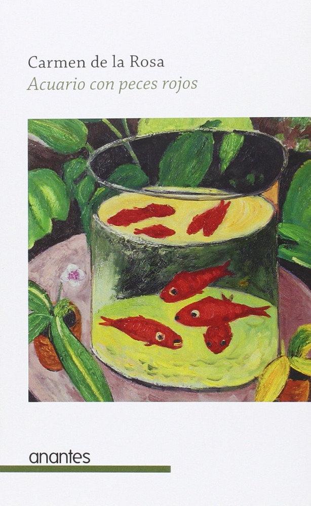 Acuario con peces rojos