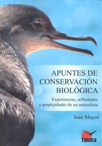 Apuntes de conservacion biologica