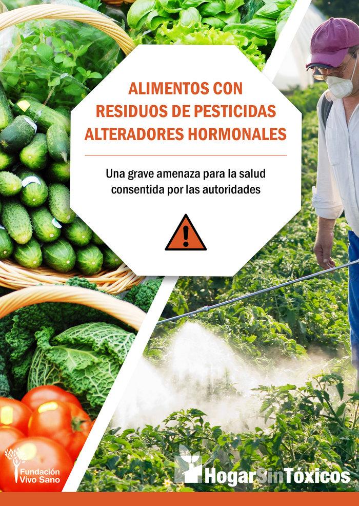 Alimentos con residuos de pesticidas alteradores hormonales