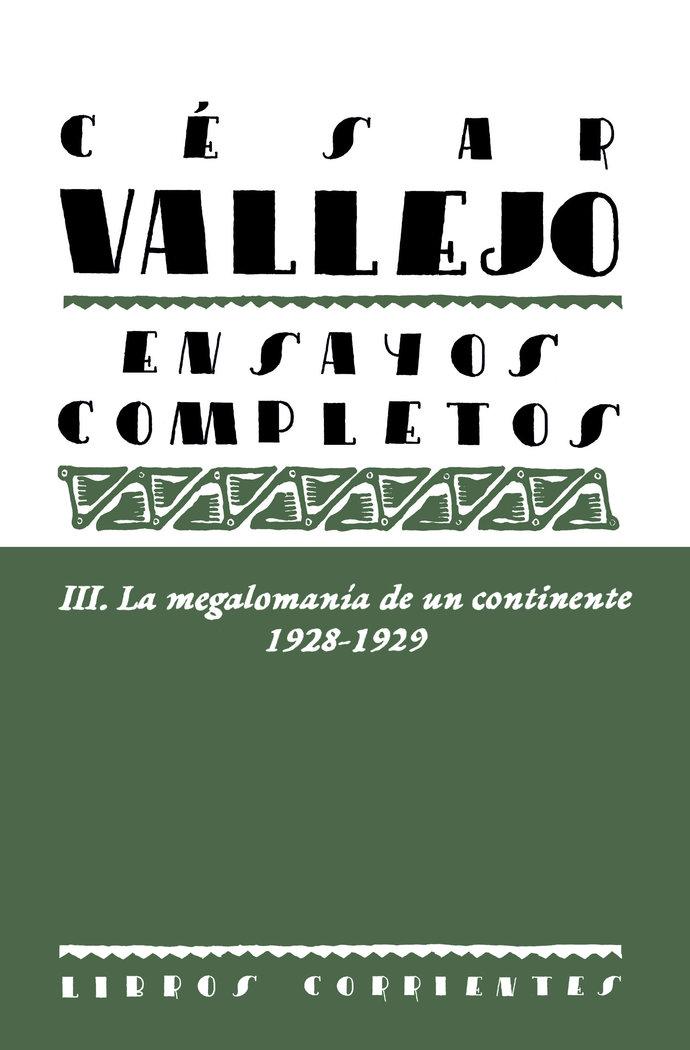 Ensayos completos iii la megalomania de un continente 192