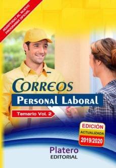 Personal laboral de correos temario volumen ii