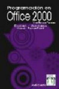 Programacion en office 2000 vba