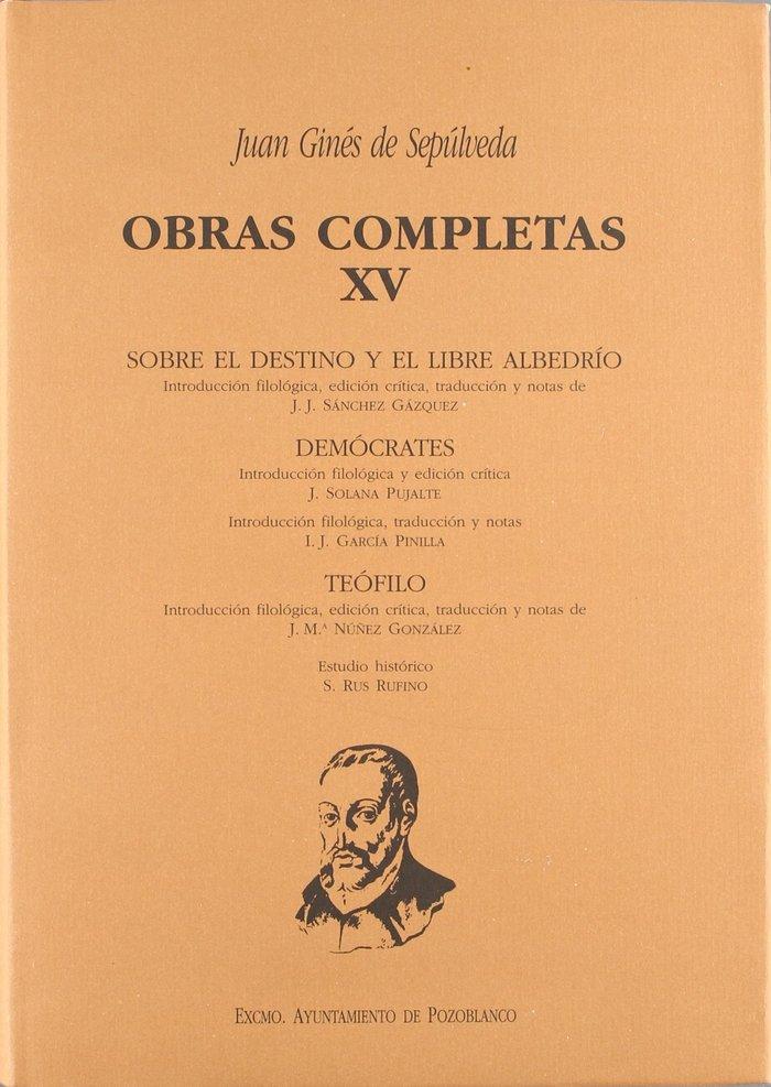 (xv) o.c.juan gines de sepulveda,xv: democrates primus