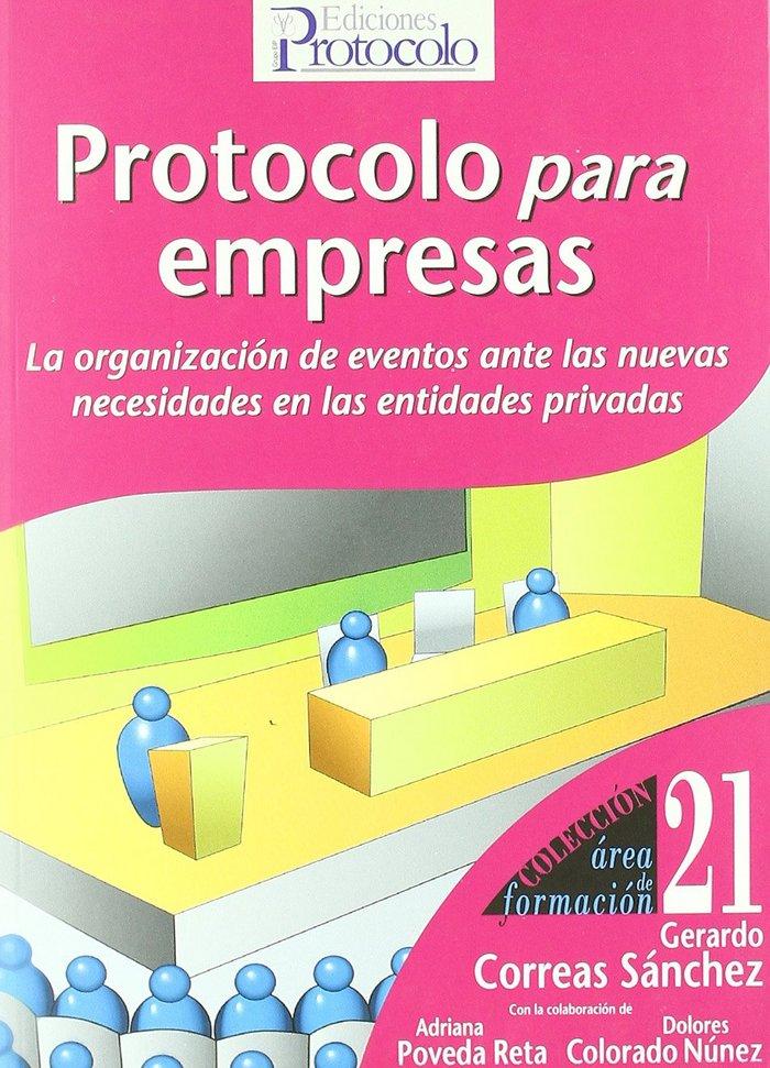 Protocolo para empresas : la organizacion de eventos ante la