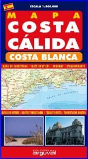 Mapa costa calida y costa blanca