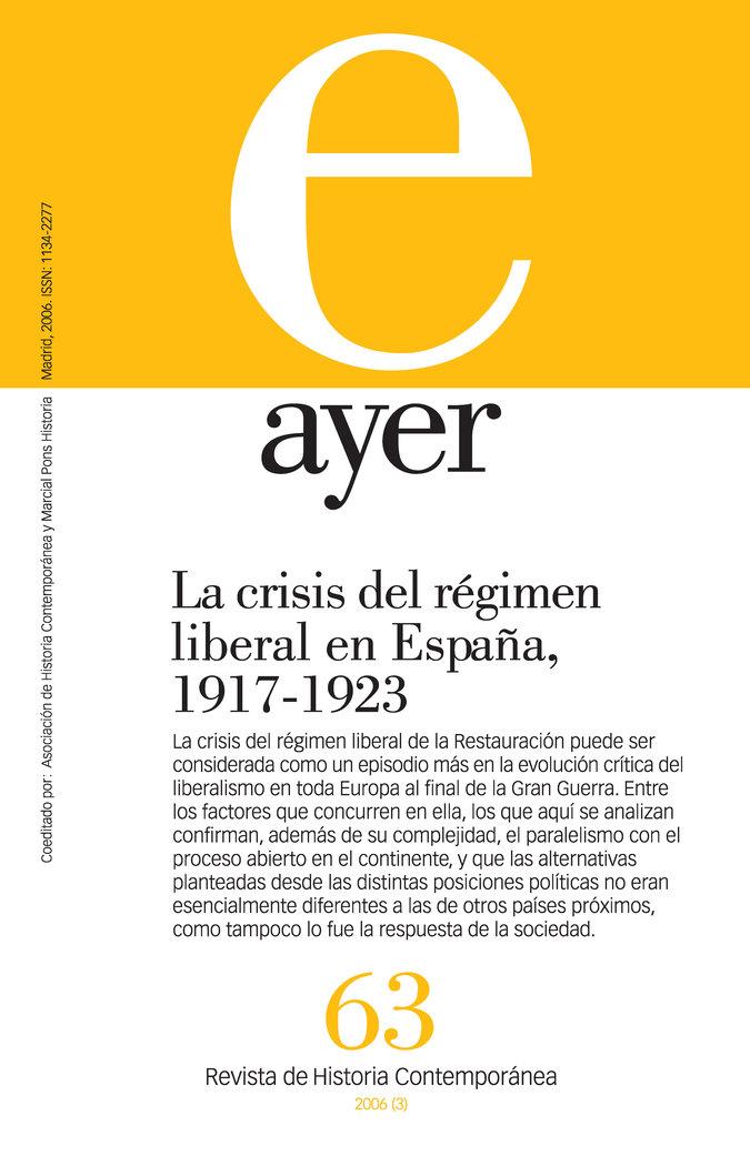 Crisis del regimen liberal en españa (1917-1923)