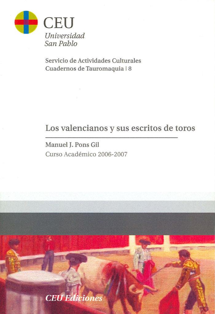 Valencianos y sus escritos de toros,los
