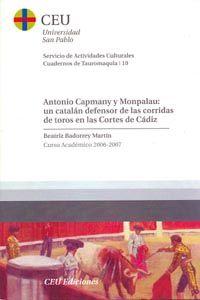 Antonio capmany y monpalau: un catalan defensor de las corri