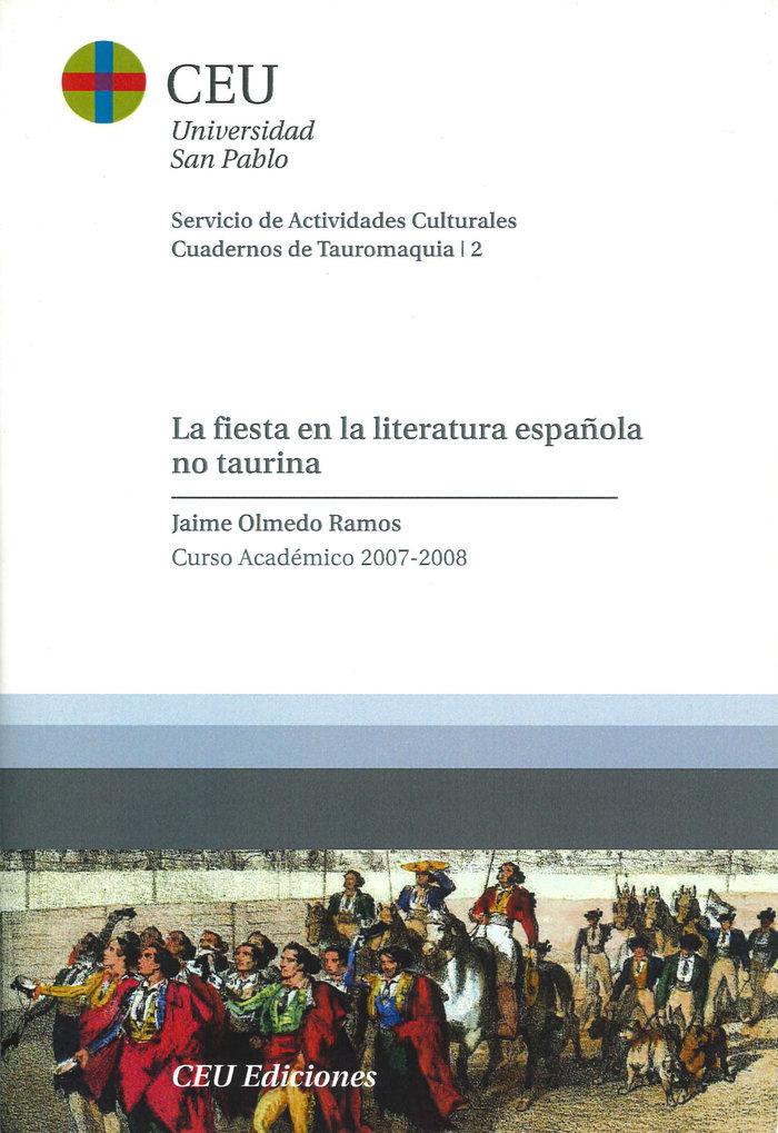 Fiesta en la literatura española no taurina,la
