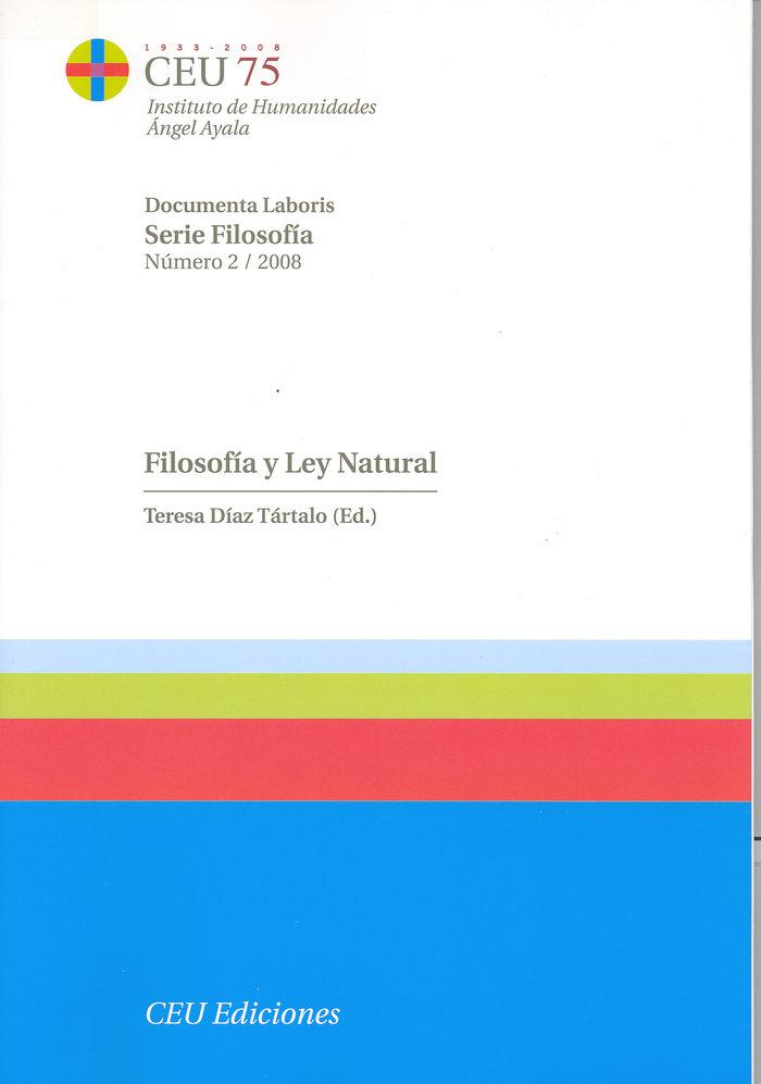 Filosofia y ley natural