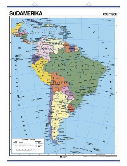 Sydamerika, physisch / politisch