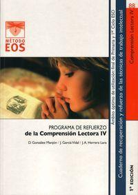 Programa de refuerzo de la comprension lectora iv