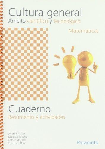 Cuaderno cultura general ambito cientifico matematicas