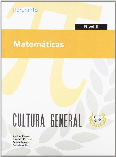 Matematicas nivel ii cultura general