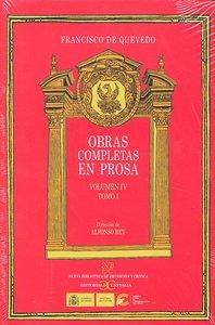 Obras completas en prosa vol iv tomo i